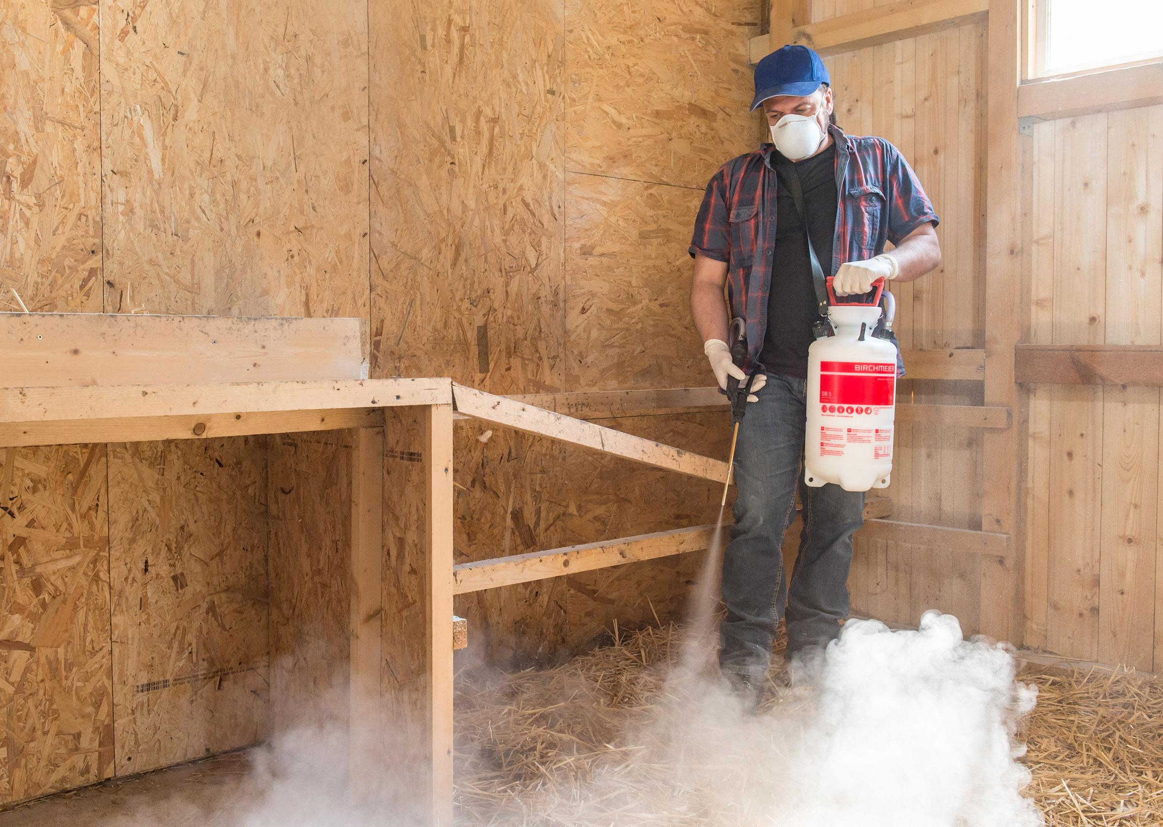 Pulverzerstäuber DR 5 von Birchmeier - Mit Kieselgur Hühner vor Milben schützen