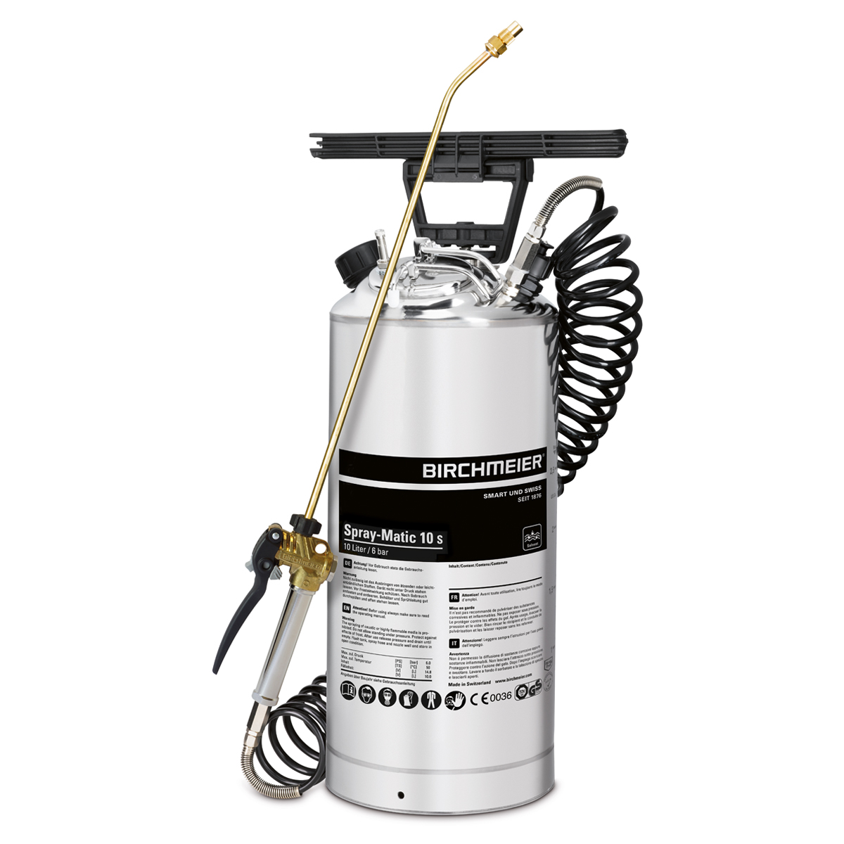 Spray-Matic 10 S with hand pump and compressed-air union
