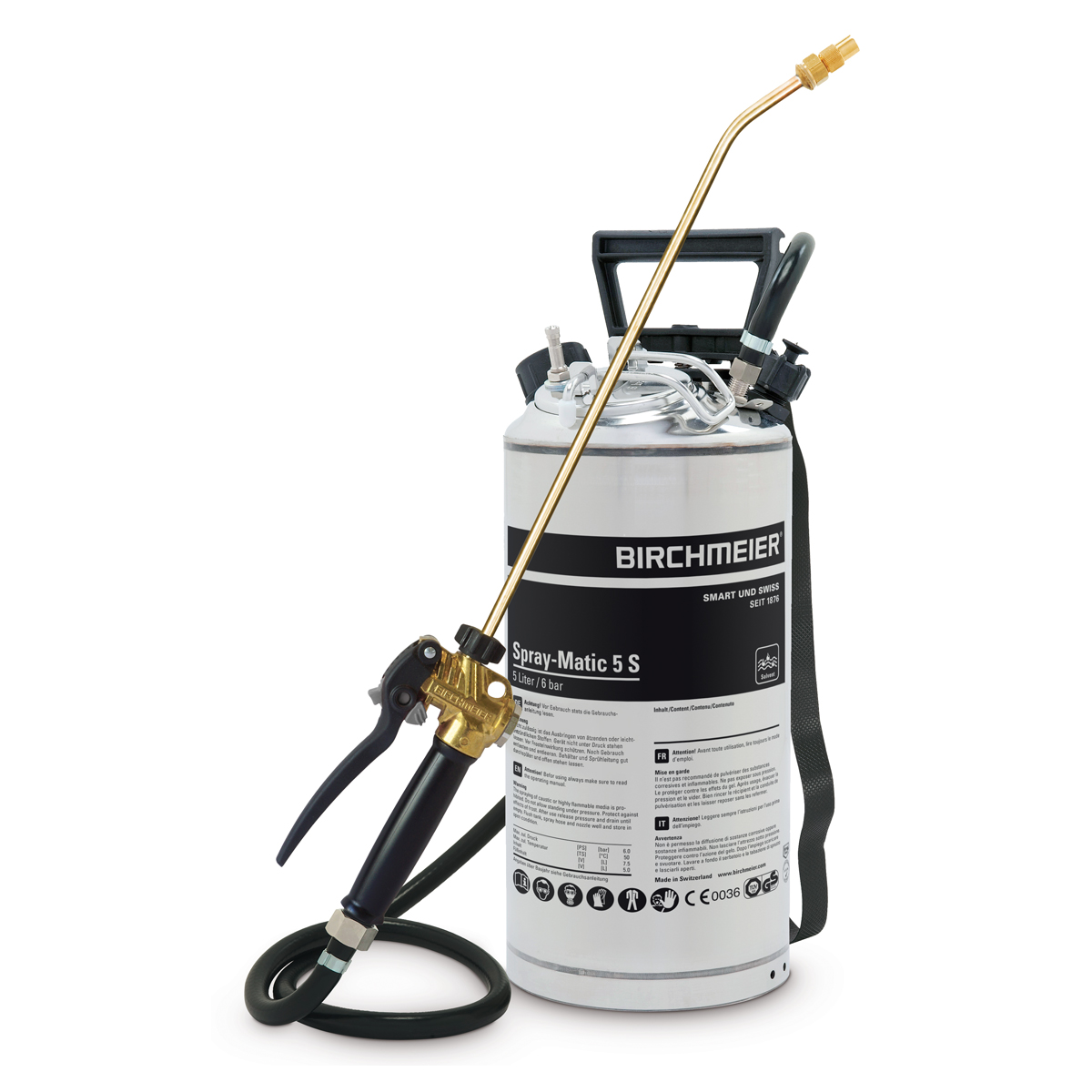 Spray-Matic 5 S with hand pump and compressed-air union